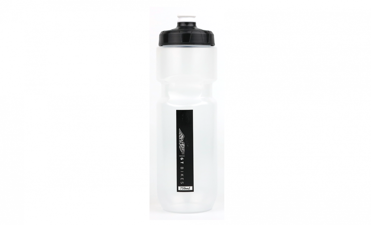 GT BOTTLE 750ML, LARGE CAP, CLEAR & BLACK STRIP -